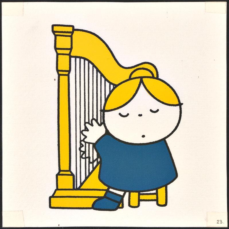 het orkest [eerdere versie van het kinderboek: wij hebben een orkest; met de harpiste op p. 23, niet uitgegeven]
