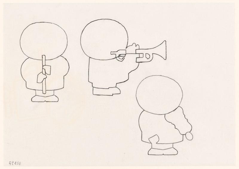 wij hebben een orkest [ben blaast op de trompet op de omslag en op p. 11; katootje speelt blokfluit op p. 9; bets speelt viool op p. 13]
