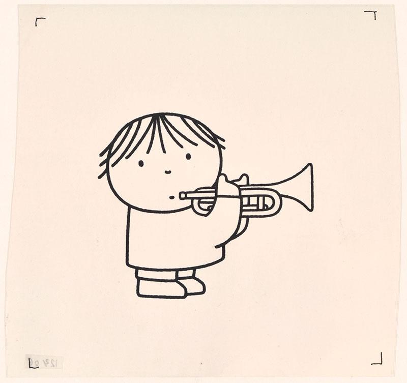 wij hebben een orkest [ben speelt trompet op p. 11]