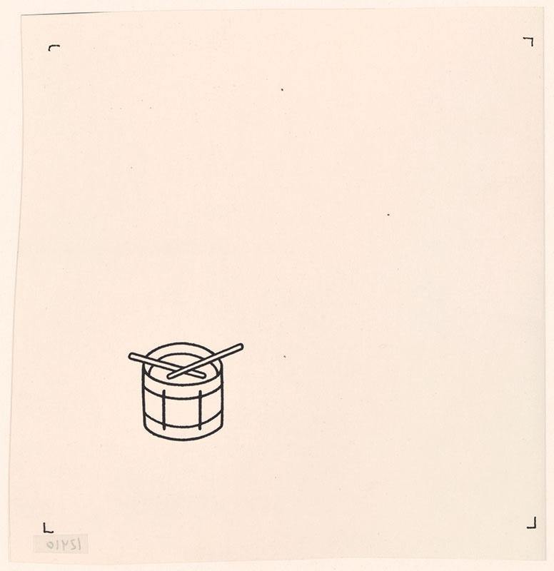 het orkest [eerdere versie van het kinderboek: wij hebben een orkest; met een trommel op het schutblad en op de achterkant, niet uitgegeven]
