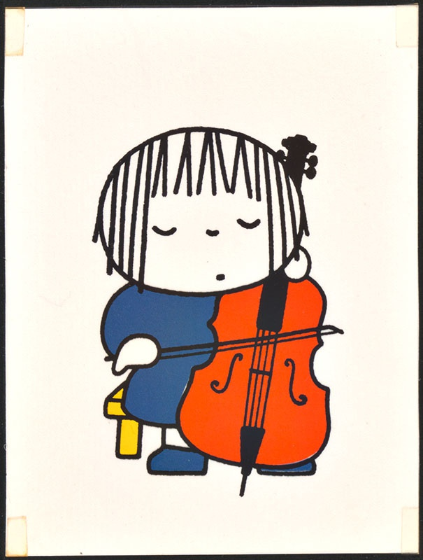 het orkest [eerdere versie van het kinderboek: wij hebben een orkest; met de celliste op p. 15 en tekst op p. 16, niet uitgegeven]