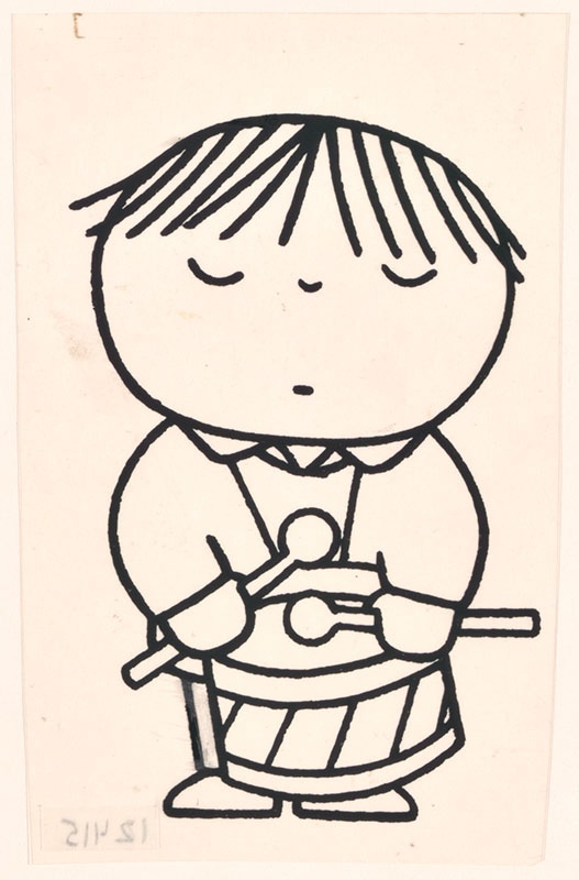 wij hebben een orkest [jongen met trommel, niet opgenomen in het kinderboek]