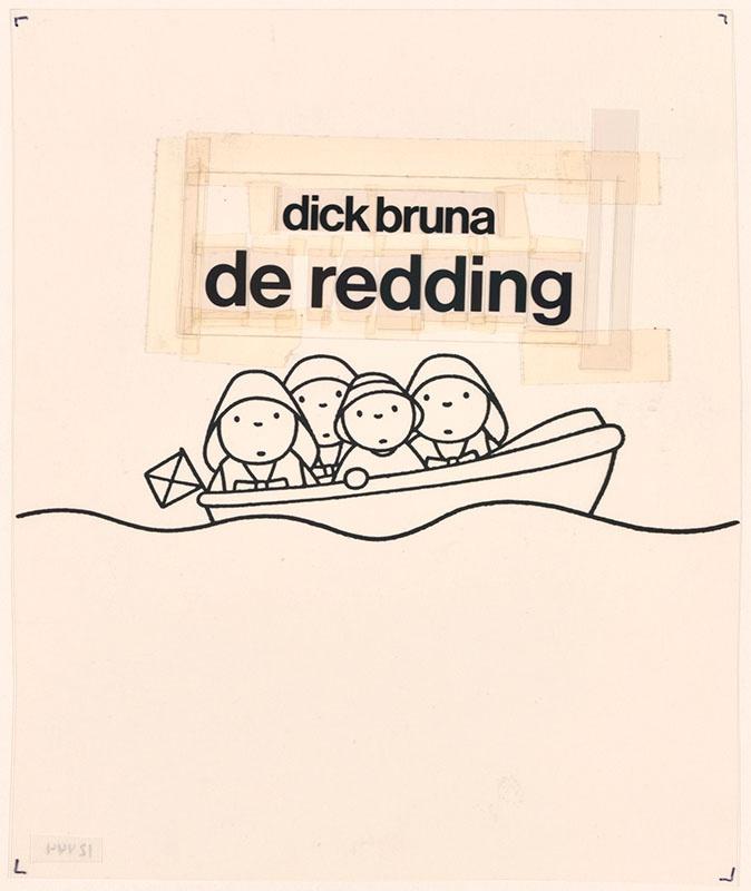 de redding [daan douwe met zijn redders in een boot en de daarbij behorende tekst op de omslag]