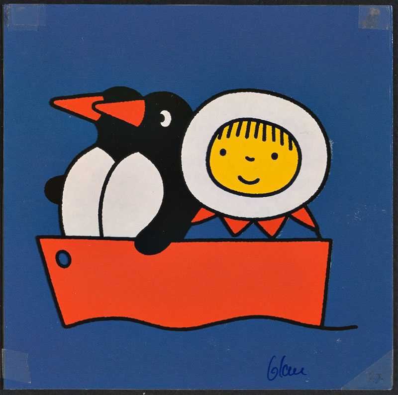 pim en wim [eskimo, pim en wim in de boot op p. 27, tekst op p. 28]