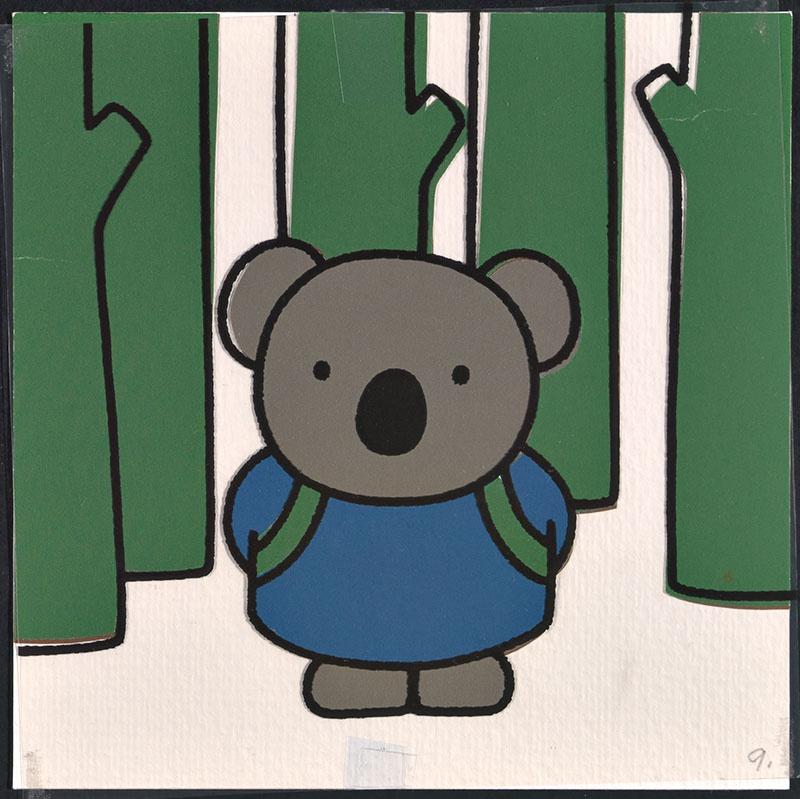 boris en ko [ko de koalabeer in het bos op p. 9 en tekst op p. 10]