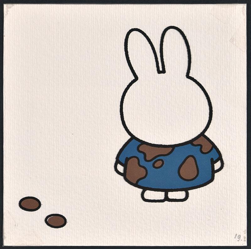 nijntje in luilekkerland [nijntje met chocolade op haar jurk op p. 19 en tekst op p. 20]