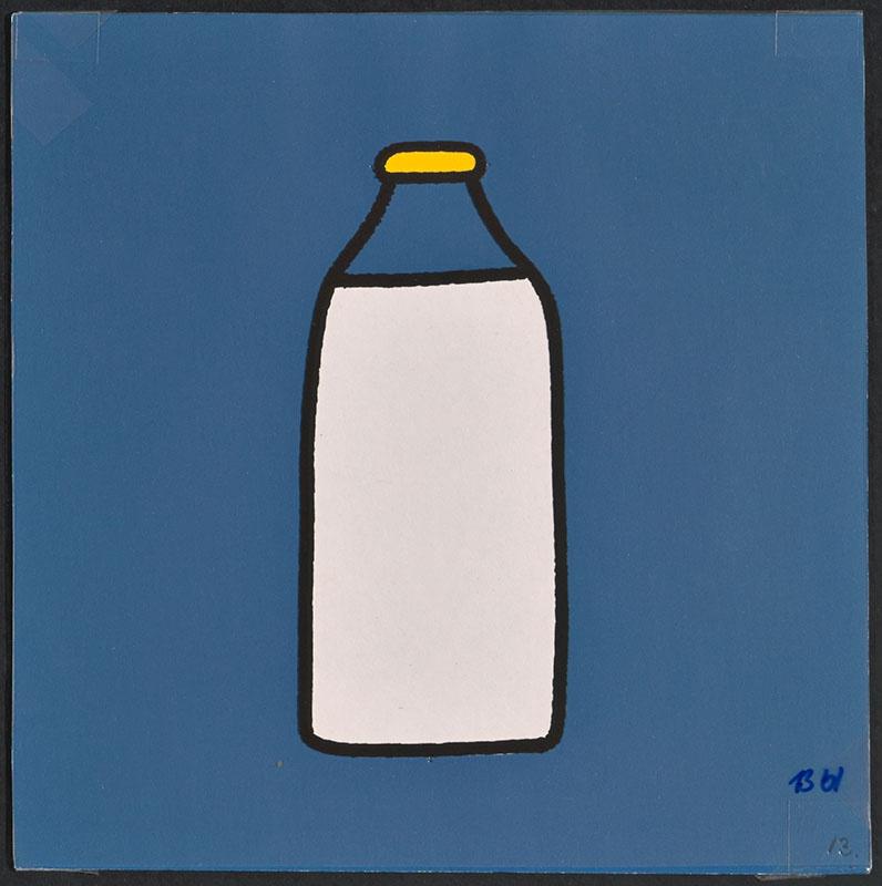 boris doet de boodschappen [een fles melk op p. 13 en tekst op p. 14]
