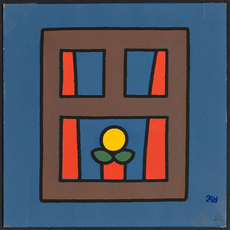 boris doet de boodschappen [raam met plant op p. 29]