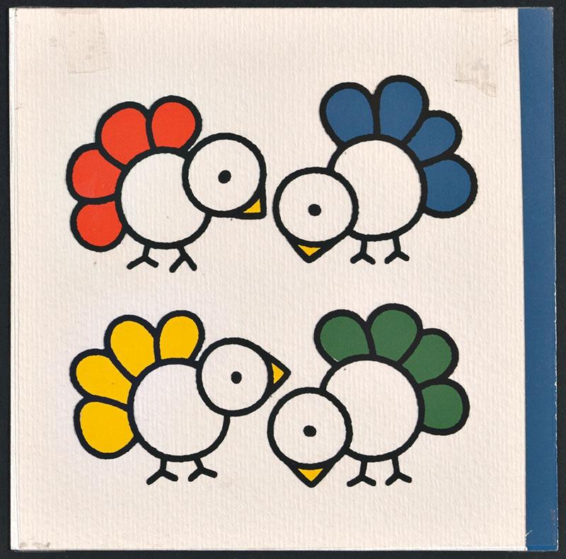 vogel piet [vogels met rode, blauwe, gele en groen veren op de omslag]