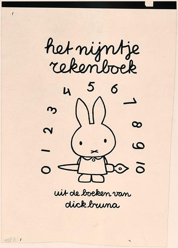 het nijntje rekenboek uit de boeken van dick bruna [nijntje met een kroontjespen achter haar rug]