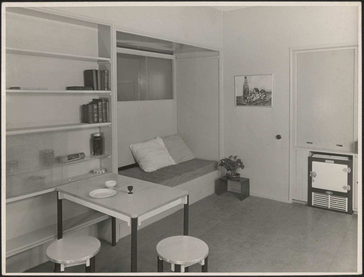 Afbeelding van villa Kenaupark 6, Haarlem, appartement O, hoek met ingebouwde zit/slaapbank