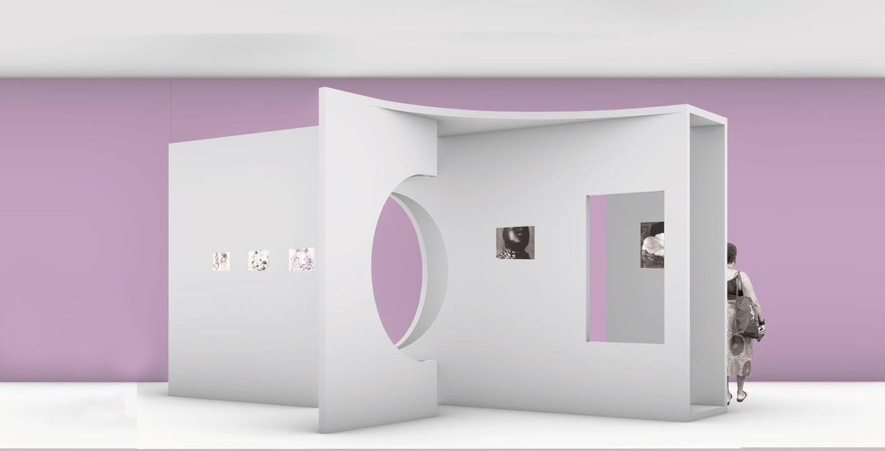 3/7 - Schetsontwerp van Afaina de Jong voor de tentoonstelling De Tranen van Eros (2020).