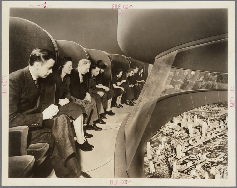 4/8 - New York World's Fair, Futurama. Foto: New York Public Library