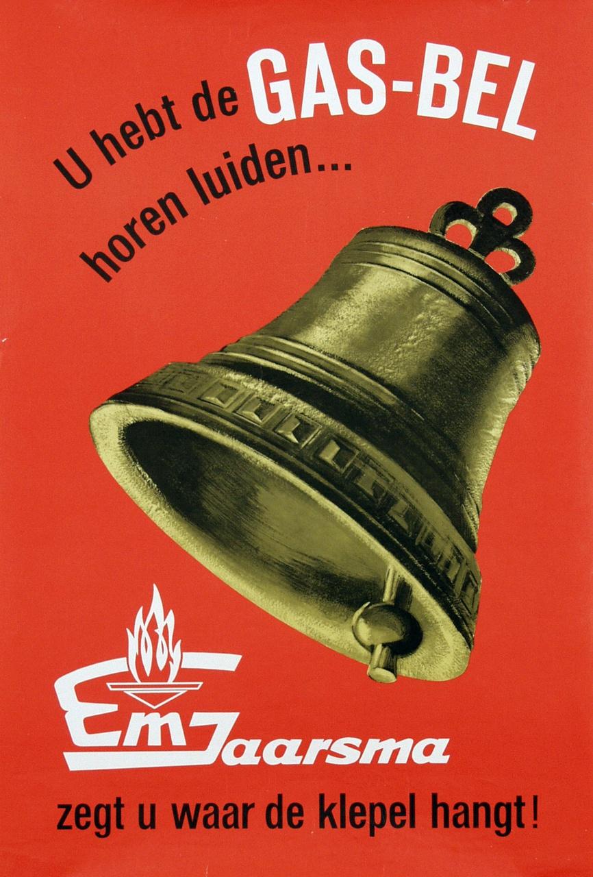 8/13 - Affiche voor gashaarden uit 1964. Bron: van Sabben Poster Auctions.