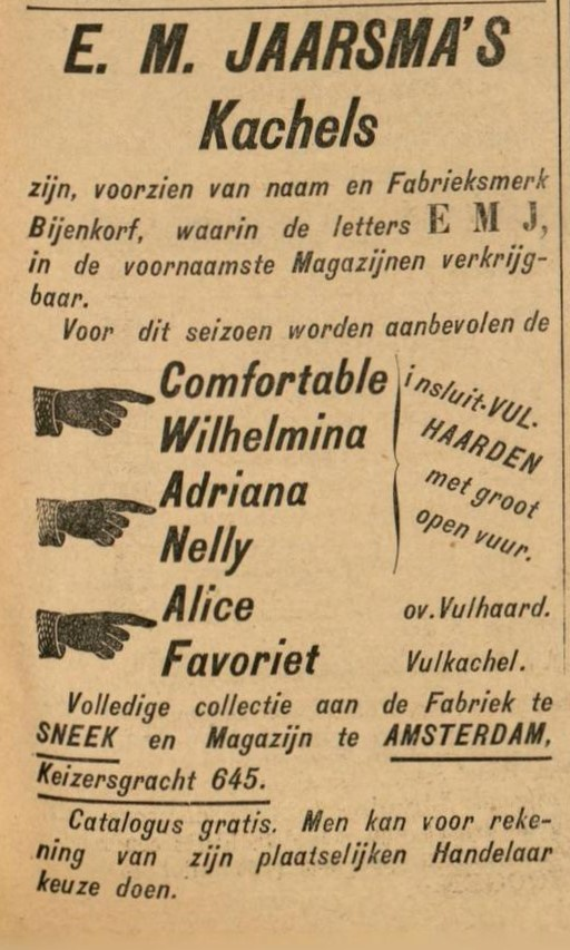 3/13 - Advertentie uit de Leeuwarder Courant, 23-10-1899.