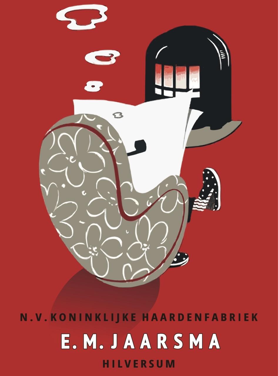 1/13 - Affiche voor kolenkachels uit 1952. Bron: van Sabben Poster Auctions