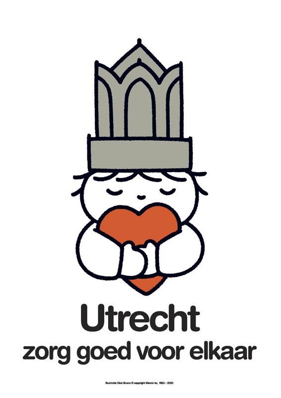 1/6 - Dick Bruna, affiche Utrecht, zorg goed voor elkaar (2020) © Mercis Publishing / Centraal Museum Utrecht
