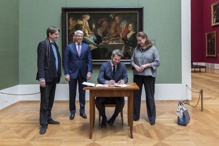 Ondertekening samenwerkingscontract rond Caravaggisten-tentoonstelling