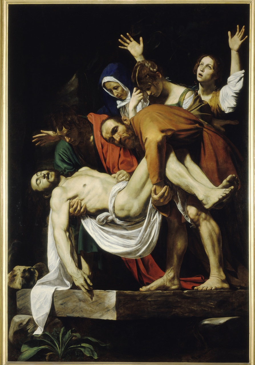 1/1 - Caravaggio, De Graflegging, Musei Vaticani, Città del Vaticano