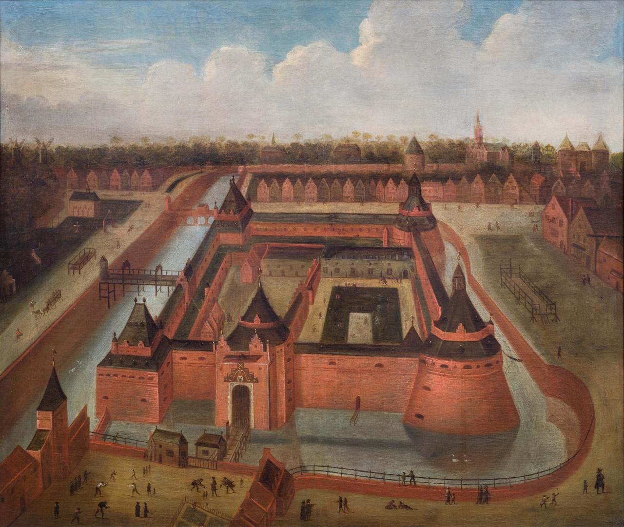 4/8 - Willem Cornelisz van Swanenburgh, Het Kasteel Vredenburg te Utrecht, 1658, collectie Centraal Museum Utrecht