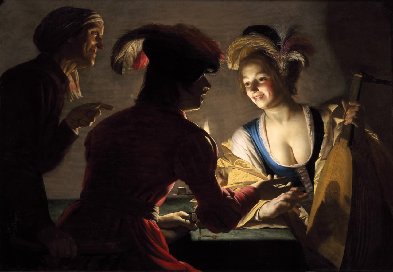 8/34 - Gerard van Honthorst, De Koppelaarster, 1625