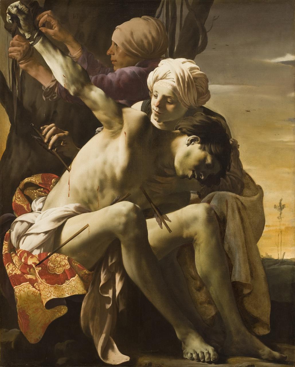 1/34 - Hendrick ter Brugghen, De heilige Sebastiaan door Irene verzorgd, 1625. Allen Memorial Art Museum, Oberlin College, Oberlin Ohio