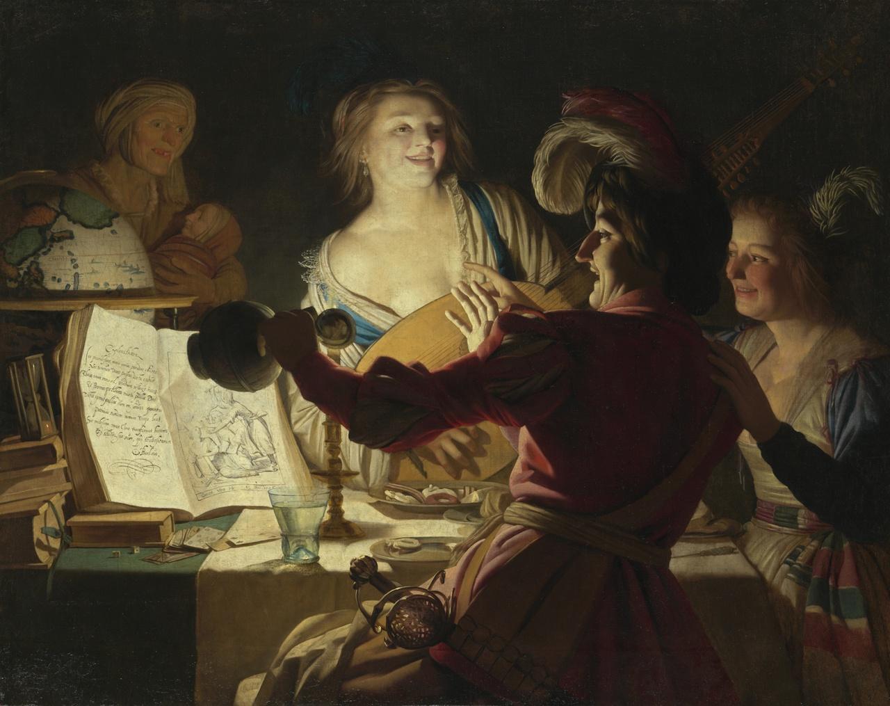 14/34 - Gerard van Honthorst, De liederlijke Student, 1625, Alte Pinakothek, München