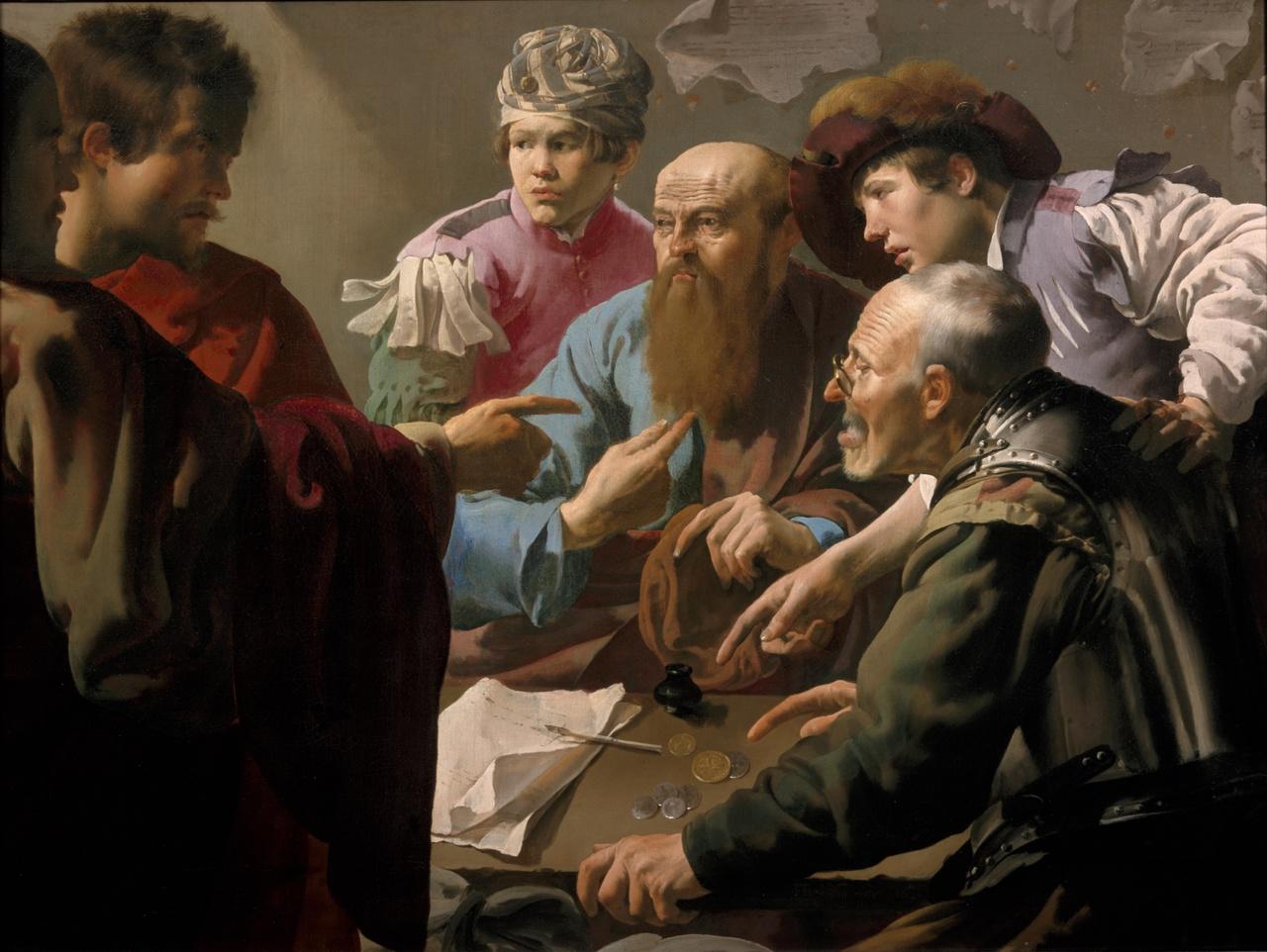 10/34 - Hendrick ter Brugghen, De roeping van Mattheus, 1621