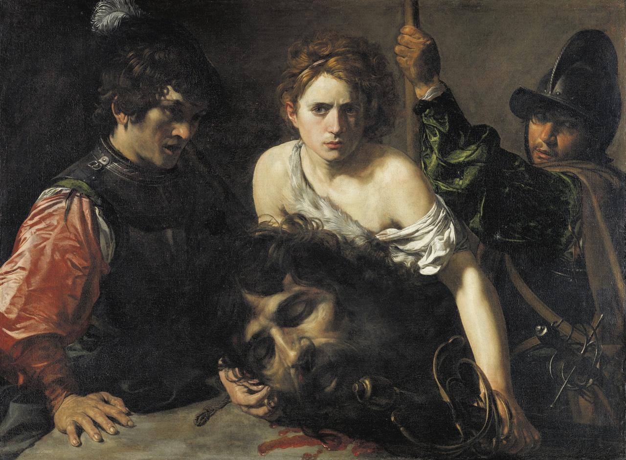 13/34 - Valentin de Boulogne, David met het hoofd van Goliath en twee soldaten, 1620-22, Museo Thyssen-Bornemisza, Madrid