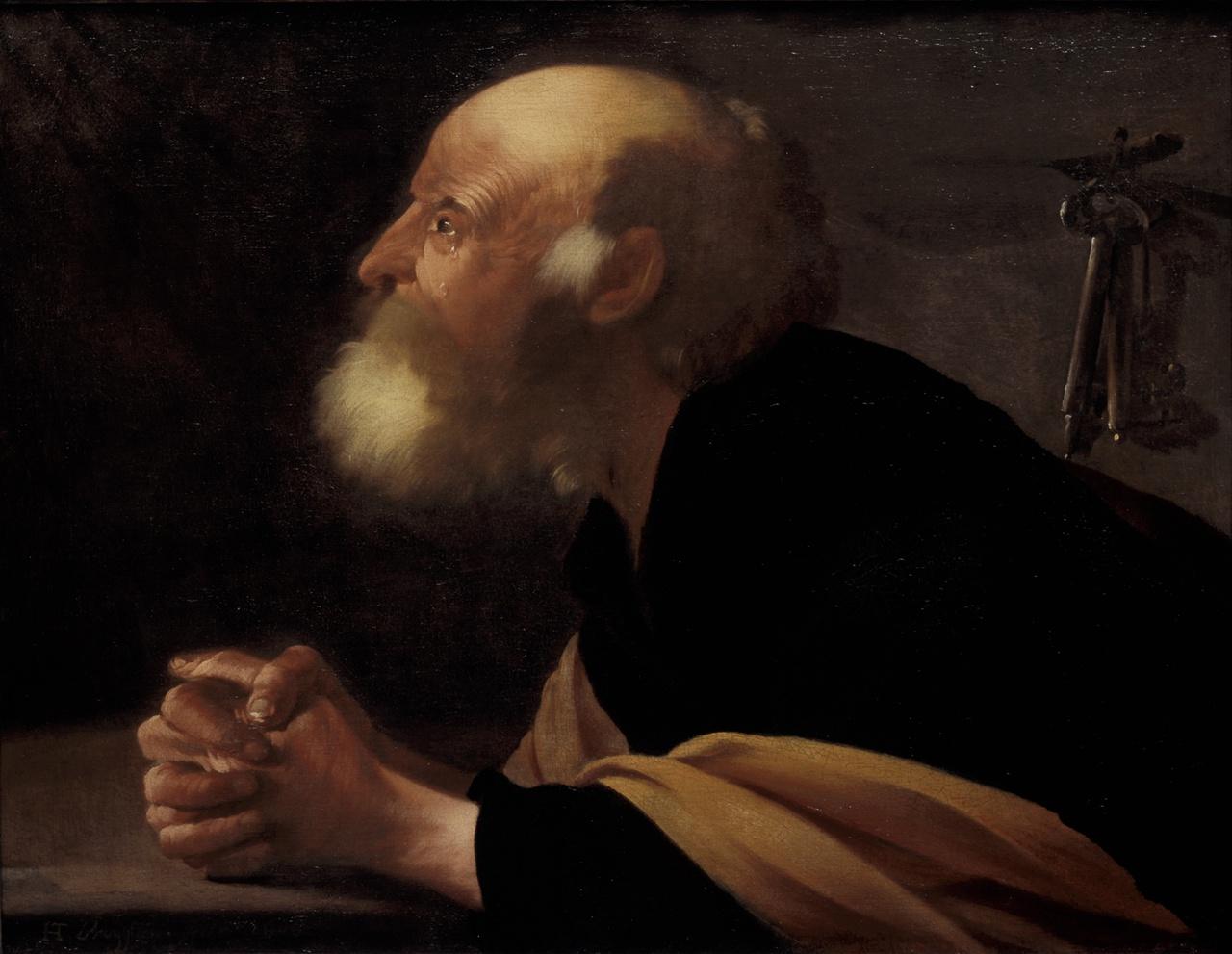 17/34 - De berouwvolle Petrus, toegeschreven aan Hendrick ter Brugghen